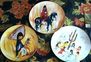 3 Ted DeGrazia Commemorative Plates Children