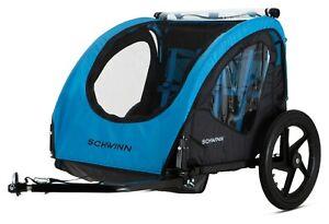 Schwinn Shuttle Foldable 2 Passengers Bike Trailer - Blue