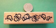 Butterfly Border, wood mounted rubber stamp