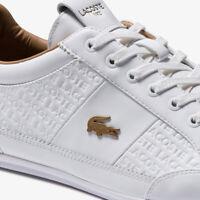 Lacoste Chaymon 120 5 US Mens Casual White Leather Fashion Shoes 39CMA0056-216