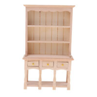 1/12 Miniature Furniture DIY Bookshelf Display Cabinet Dollhouse Decoration