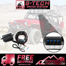 S-Tech 4 Switch System with relay center Blue Dual LED 97-06 Jeep Wrangler TJ/LJ