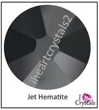 JET HEMATITE 34ss 7mm 6 pieces SWAROVSKI Crystal Flatback Rhinestones 2088