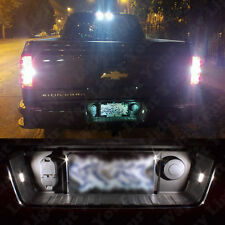 2x White Tag License Plate Light Bulbs For 2015 2016 2017 2018 Silverado Sierra