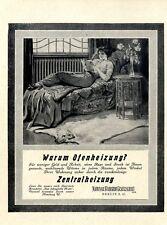 Warum Ofenheizung? Werbung für Zentralheizung von 1912