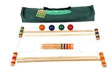 Jeu de croquet Traditionnel 4 personnes 75cm bois Traditional Garden Games