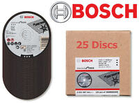 "25 x BOSCH 115mm (4-1/2"") Thin Slit 1.0mm Inox Cutting Discs/Blades, 2608603169"