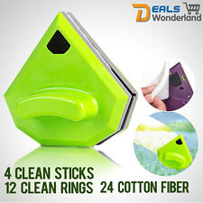 Magnetic Window Cleaning Double Side Car Glass Wiper Brush Pad Cleaner