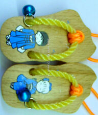 2 Oriental Chinese Japanese Geisha Girl Boy Wood Wooden Shoes Sandals Car CHARMS
