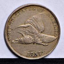 1857 Flying Eagle Cent - XF Details (#30274)