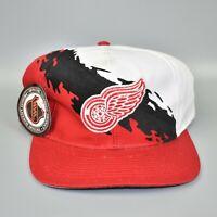 Detroit Red Wings NHL Vintage 90's Logo 7 Paint Splash Snapback Cap Hat - NWT