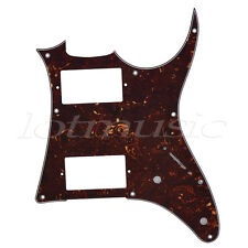 Electric Guitar Pickguard HH Scratch Plate for Ibanez GRX20Z Parts Dark Brown