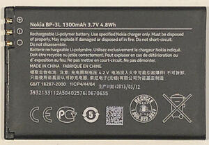 Official Nokia BP-3L Original Replacement Battery 1300mAh