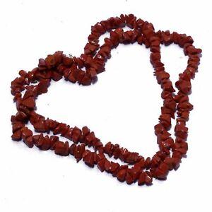 Red Jasper Gemstone Handmade Necklace Jewelry Gms 63 LN-378