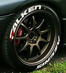 """FALKEN AZENIS Tire Sticker Permanent Letters  14'-24' 1.25"""" Large Size"""