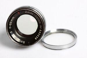Zeiss Opton T Sonnar 2/50 Contax Rangefinder Lens