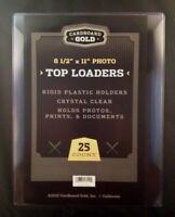 250 8.5x11 Ultra CBG Premium Pro Hard Rigid Toploaders Photo Topload Holders New