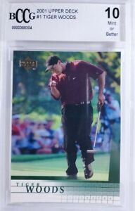 2001 Upper Deck Golf - #1 Tiger Woods - 10 Mint or Better by BCCG