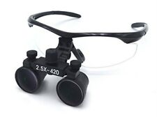 2.5X Dental Loupes Surgical Binocular Loupes Magnifier Black UK STOCK