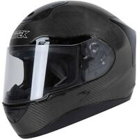 Nitek P1 Full Face Motorcycle On-Road Racing Helmet Carbon Fiber Black DOT