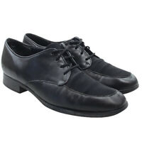 Munro American Womens Black Leather Lace Up Oxfords Flats Size 7.5 Narrow