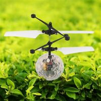 RC Flying Crystal Ball LED Flashing Light Infrared Induction Helicopter Ball bu