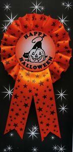 1 Tier Happy Halloween Rosette with pumpkin and cat