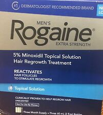 ROGAINE MEN'S TOPICAL SOLUTION ~ 5% MINOXIDIL 3 MONTH SUPPLY