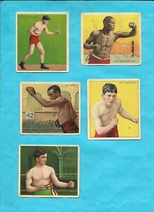 18 CARD LOT OF OLD BOXING CARDS FROM MECCA CIGARETTES