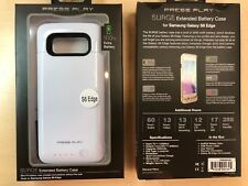 Press Play Samsung Galaxy S6 Edge Extended Battery Case in White 3500 mAh