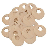 50pcs Unfinished Natural Wood Pendants Charms DIY Earring Jewelry Findings