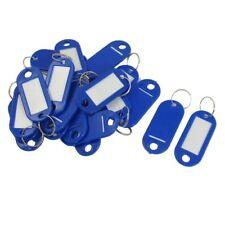 20 Pcs Clave ID Label Etiquetas Anillo de division llavero Azul F3Y1