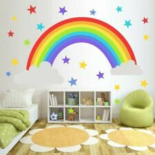 Rainbow Vinyl Wall Stickers Kids Room Bedroom Playroom Decals Home Trendy QAQ