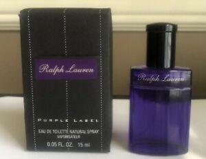 NEW**Ralph Lauren PURPLE LABEL Men's Cologne Eau De Toilette Spray 0.5 FL OZ