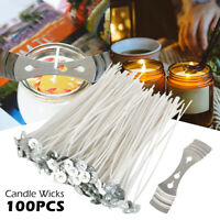 100PCS 6 Inch 15cm Candle Wicks Cotton Core Candle Making Supplies