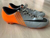 Nike Mercurial Miracle FG Grey Orange Football Boots Ronaldo CR7 - UK 12 / US 13