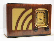 New ListingOld Antique Wood Philco Vintage Tube Radio -Restored Working Art Deco Table Top