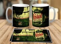 CASTROL OIL MUG ,VINTAGE DISTRESSED CASTROL OIL CAN MUG RETRO COOL 110z