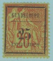 Guadeloupe 5 Mint Hinged OG * NO FAULTS EXTRA FINE!