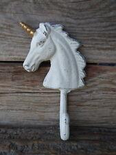 Cast Iron Metal UNICORN Wall Hook Knob - Princess Horse Mythical ~ Organization