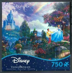 "New ""Disney Thomas Kinkade Cinderella Wishes Upon A Dream"" 750 Piece Puzzle"