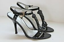 GUESS womens BLACK BEADED strappy high heel HOLIDAY DRESS SHOES size 8