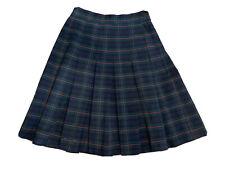 Parker school uniform Skirt Black Red White plaid Youth Teen girls sz 24