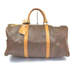 ETRO Boston Bag  Bordeaux PVC 1414038