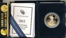 2012 W $50 PROOF GOLD EAGLE MINT FRESH COMPLETE ORIGINAL PACKAGING