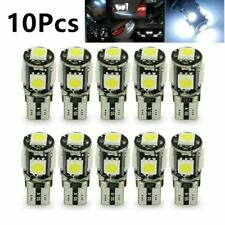 10 X CANBUS 6000K White T10 5-SMD 5050 LED Dome Map License Interior Light Bulbs