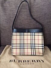 AUTHENTIC BURBERRY Nova Check PVC and Leather Shoulder Bag