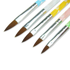 5 teiliges Acryl Pinsel Set bunt - Nail Art Modellage Größen: 2,4,6,8,10