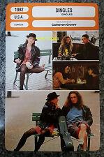 US Romantic Comedy Singles Cameron Crowe Bridget Fonda French Film Trade Card