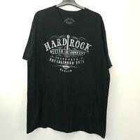 HARD ROCK CAFE Mens T-Shirt Tee MUNICH 2XL Black Regular  Cotton